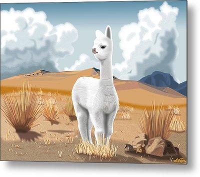 Baby Alpaca Peruvian Andes Metal Print