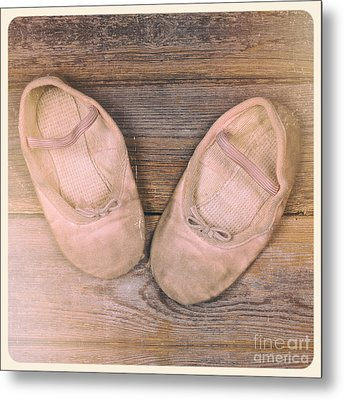 Baby Ballet Shoes Instant Photo Metal Print by Jane Rix