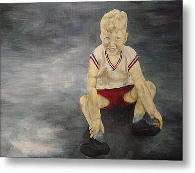 Metal Print featuring the painting Baby Bill  by Mary Ellen Anderson
