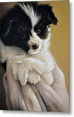 Metal Print featuring the pastel Baby Boy - Pastel by Ben Kotyuk