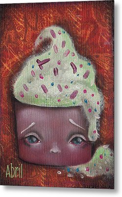 Baby Cakes II Metal Print by Abril Andrade Griffith