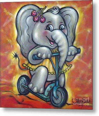 Baby Elephant 101011 Metal Print