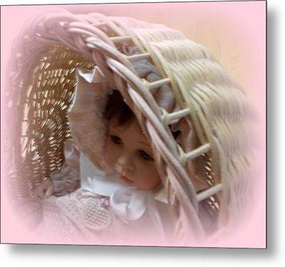 Baby In Pink Metal Print by Pamela Hyde Wilson