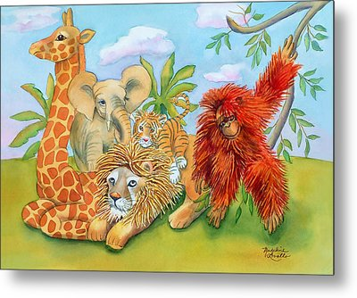 Baby Jungle Animals Metal Print