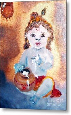 Baby Krishna Metal Print by Ayasha Loya