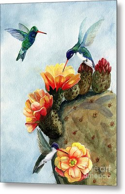 Baby Makes Three Metal Print by Marilyn Smith