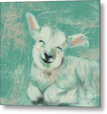 Baby Sheep Metal Print by Go Van Kampen