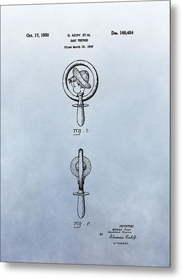 Baby Teether Patent Metal Print