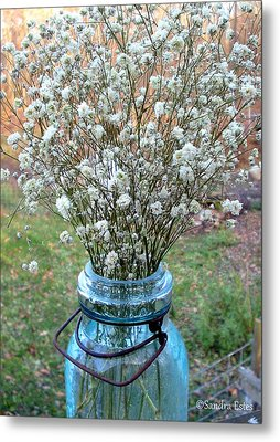 Baby's Breath Bouquet Metal Print