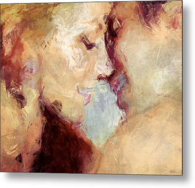 Baci Baci - Abstract Realism Metal Print by Georgiana Romanovna