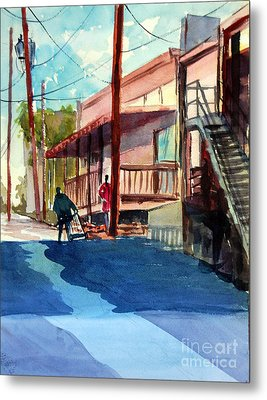 Back Alley Metal Print by Ron Stephens