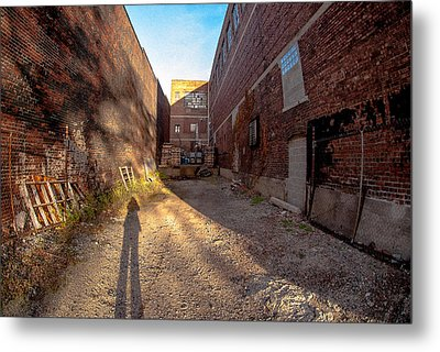 Back Alley Shadow Metal Print