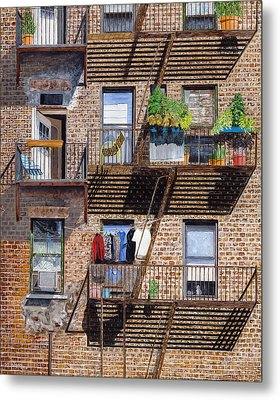 Back Alley View Greenwich Vlg Metal Print by Stuart B Yaeger