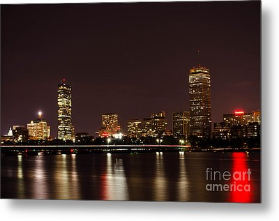 Metal Print featuring the photograph Back Bay At Night by Mike Ste Marie