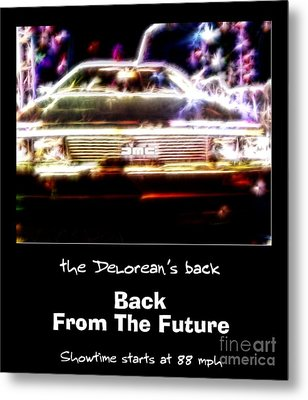 Back From The Future Metal Print by Renee Trenholm