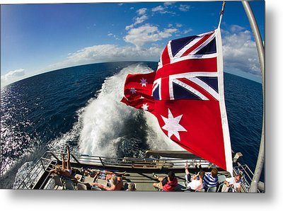 Back From The Great Barrier Reef With A Fisheye Metal Print by Mr Bennett Kent