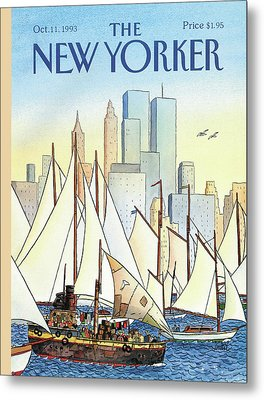 Back In The New World Metal Print by Jacques de Loustal