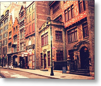 Back In Time - Stone Street Historic District - New York City Metal Print by Vivienne Gucwa