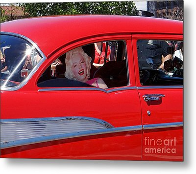Metal Print featuring the photograph Back Seat Marilyn by Ed Weidman