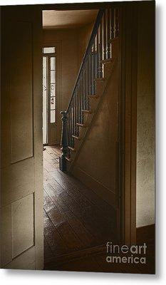 Back Stairway Metal Print by Margie Hurwich