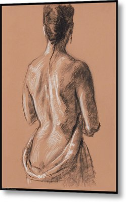 Back Study Metal Print by Diana Moses Botkin