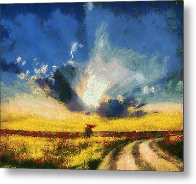 Metal Print featuring the painting Back To Goodbye by Joe Misrasi