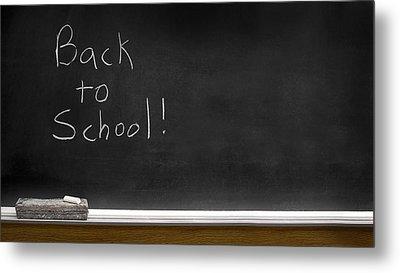 Back To School Chalkboard Metal Print by Lane Erickson