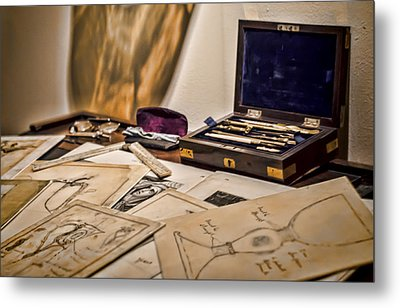 Back To The Drawing Board Metal Print by Heather Applegate