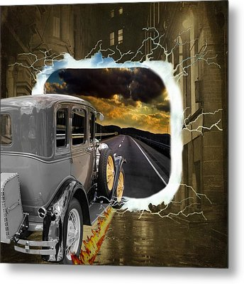 Back To The Future Metal Print by Davandra Cribbie