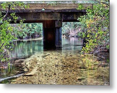 Back Water River Bridge Metal Print by JC Findley