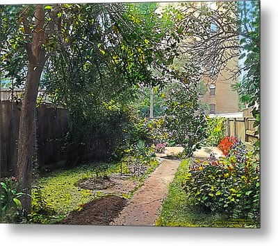 Back Yard Metal Print