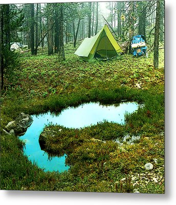 Backcountry Camp Metal Print by Ric Soulen
