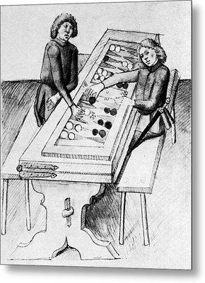 Backgammon, 15th Century Metal Print by Granger