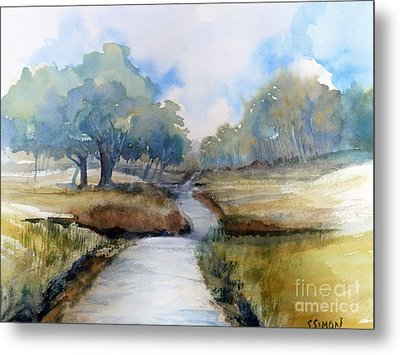 Metal Print featuring the painting Backroads Of Georgia by Sally Simon
