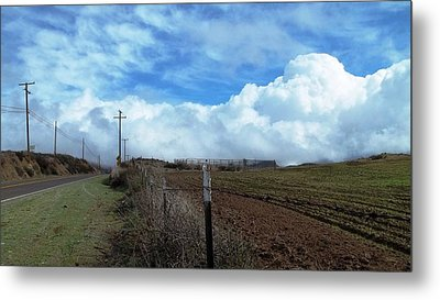 Backroads- Telephone Poles- And Barbed Wire Fences Metal Print by Glenn McCarthy Art and Photography