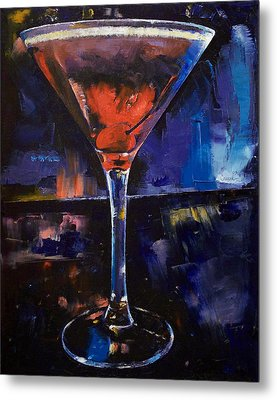 Backstage Martini Metal Print by Michael Creese