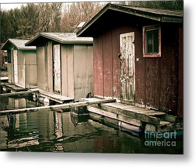 Metal Print featuring the photograph Backwater Trio by Kari Yearous