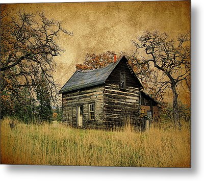 Backwoods Cabin Metal Print
