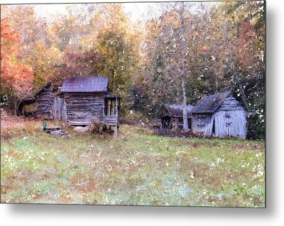 Backwoods Living Metal Print by Mary Timman