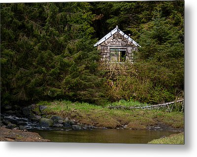 Backwoods Shack Metal Print by Melinda Ledsome