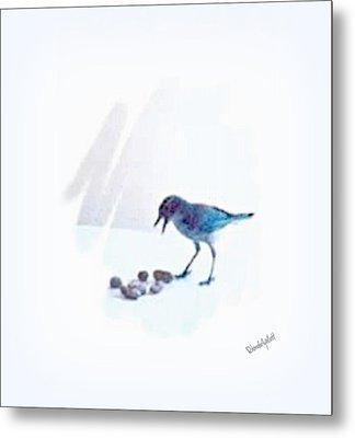 Metal Print featuring the mixed media Backyard Bird by YoMamaBird Rhonda