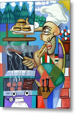 Backyard Chef Metal Print