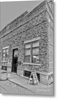 Bacon Building Metal Print by Alan Look