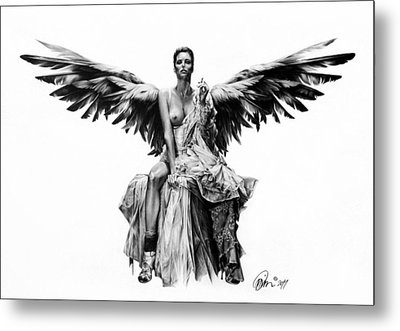 Bad Angel Metal Print by Mario Pichler