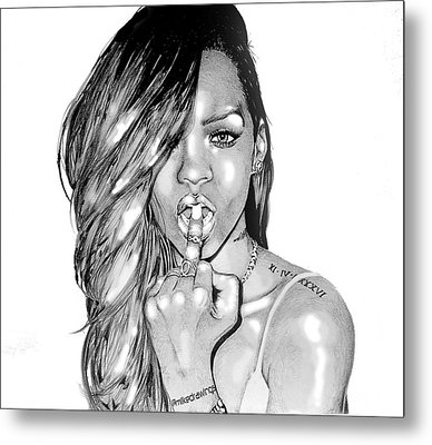 Bad Gal Rihanna Metal Print by Mike Sarda