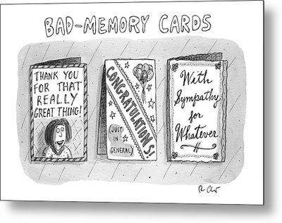 Bad Memory Cards Metal Print
