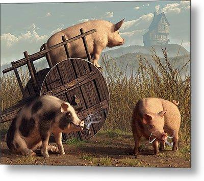 Bad Pigs Metal Print by Daniel Eskridge