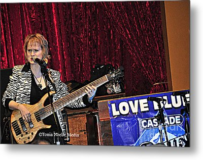 Metal Print featuring the photograph Badass Blues Bassist Lisa Mann by Tonia Noelle