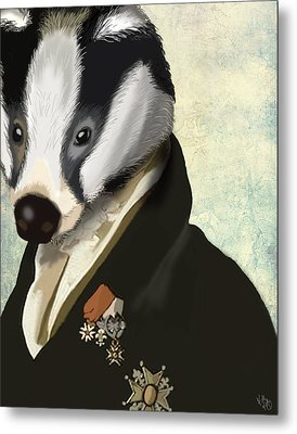 Badger The Hero Metal Print by Kelly McLaughlan