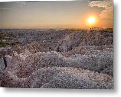 Badlands Overlook Sunset Metal Print